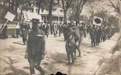 Men Marching in Parade Postcard