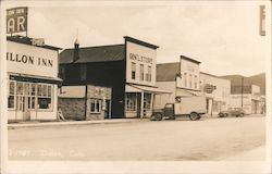 Main Street and General Store in Dillon, Colorado Postcard