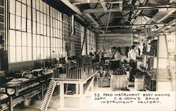 Reed Instrument Body Making Dept. C.G. Conn's Band Instrument Factory Postcard