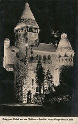 Gingerbread Castle at Wheatsworth Mill Postcard