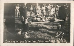 """Bringing in One of the Dead Mexicans"" Battle of Veracruz Mexican Revolution Postcard"