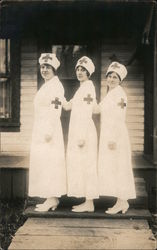 Three Nurses, Red Cross Postcard