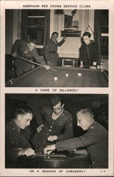 American Red Cross Service Clubs: A game of billiards? Or a session of Checkers?