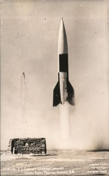 V2 Rocket Leaving Ground, White Sands Proving Ground Postcard