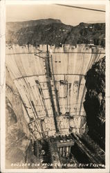 Boulder Dam from Lookout Point Postcard