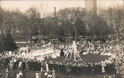 May Day-People around the May Pole Postcard