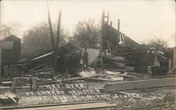 Hay Barn hit by Cyclone Postcard