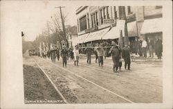 Parade Past University Co-Op Bookstore State Street Postcard