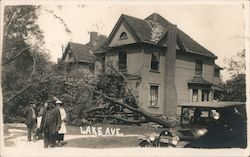 Lake Avenue, Cyclone 1917 Postcard
