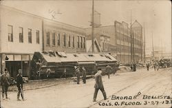 Damage from the Columbus Ohio Flood on Broad and Belle streets Postcard