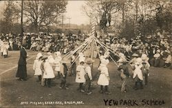 May Day Exercises, Yew Park School Postcard