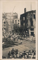 Bombing Ruins of the Times Building, 1st and Broadway,October 1, 1910 Postcard