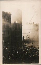 Ruins of the Times Building - 1910 Bombing Postcard