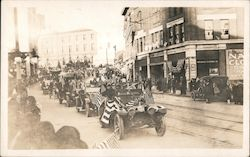 Parade, Downtown Bangor at 73 Central St. Paine Hospital Cars Postcard