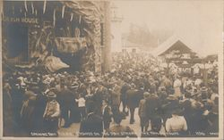 Opening Day A.Y.P.E. Crowds on the Pay Streak. The Foolish House Postcard