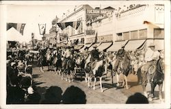 Parade Featuring Cowboys On Horseback Postcard