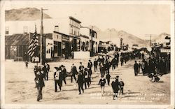 Miners Union in Parade - Golden Street, 1906 Postcard