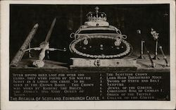 The Regalia of Scotland, Edinburgh Castle Postcard