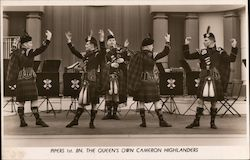Pepers 1st Bn. The Queen's Own Cameron Highlanders Postcard