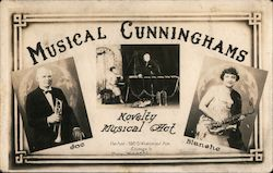Musical Cunnginghams - Joe & Blanche - Novelty Musical Act Postcard