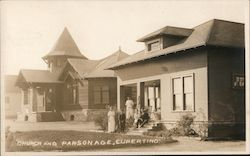 Church ad Parsonage Postcard