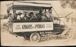 1922 Knights of Pythias - San Pedro Parade Welcoming Fleet Postcard