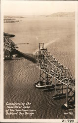 Constructing the cantilever span of the San Francisco-Oakland Bay Bridge