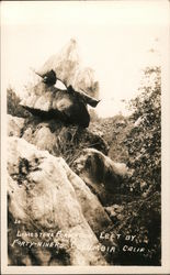 Limestone formation left by forty-niners Postcard