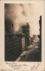 Palace Hotel, Monadnock, Examiner and Call Buildings -Earthquake Fire 1906 Postcard