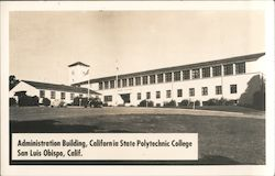 Administration Building at California State Polytechnic College Postcard