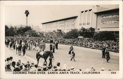 Looking Them Over, Santa Anita Track Postcard