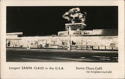 Largest Santa Claus in the U.S.A. Postcard