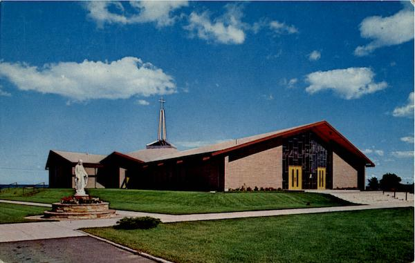 Sacred Heart Church Shrine Along Shores of Lake Huron