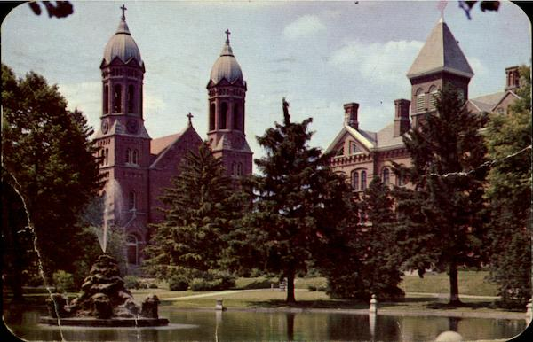Indiana University Address >> Chapel And Administration Building, St. Joseph's College ...