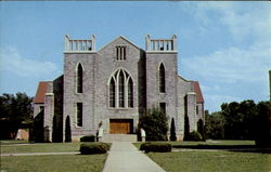 The Cathedral Of The Ozarks, John Brown University Postcard