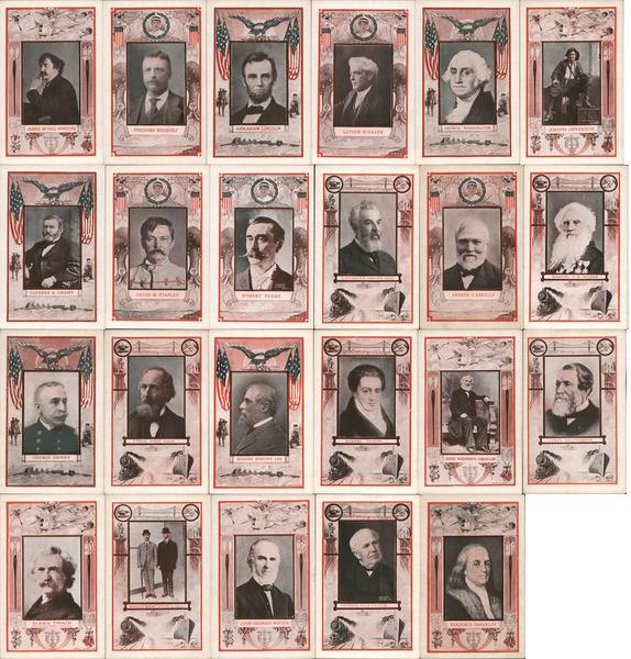 Set of 23: Famous Men, Presidents, Writers