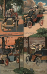 Set of 4: Couple in Automobile