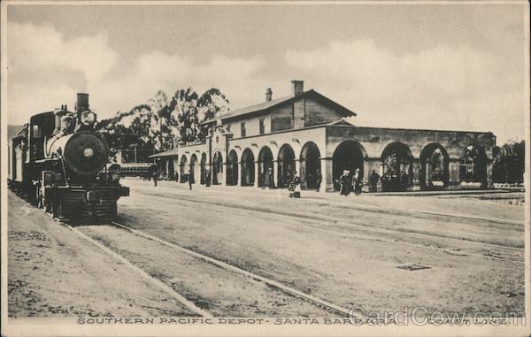 Southern Pacific Depot - Coast Line Santa Barbara California