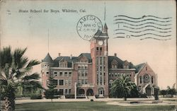 State School for Boys Postcard