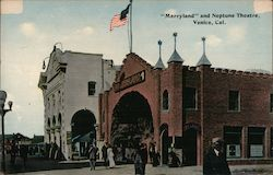 """Merryland"" and Neptune Theatre Venice, CA Postcard"