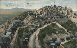 Sunrise Services, Easter Sunday Morning Mt. Rubidoux Postcard