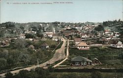General View of Auburn, California From High School Postcard