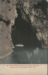 Painted Cavern, Santa Cruz Island Postcard