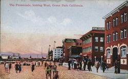 The Promenade looking West - Hotel Cadillac Postcard