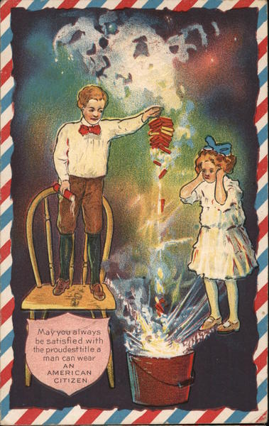Children with Firecrackers 4th of July