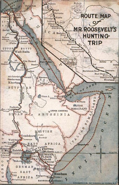 Route Map of Mr. Roosevelt's Hunting Trip Maps