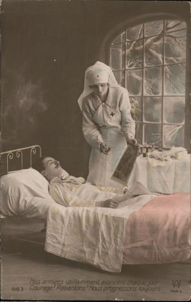 Red Cross Reassurance From Parisian Soldiers World War I