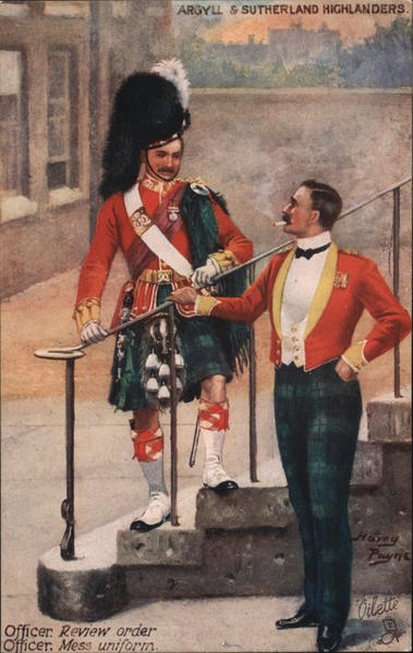 Argyll & Sutherland Highlanders Scotland Men