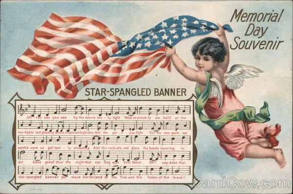 Memorial Day Souvenir Star Spangled Banner Sheet Music