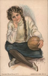 American Girl No 12 Postcard